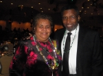 Gwendolyn Betancourt Hankerson and John Lewis at the 2014 Omega Mardi Gras Ball